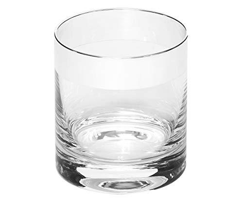Brillibrum Design Whiskyglas mit Echtsilber antibakteriell Whiskybecher aus Kristallglas Tumbler Glas edles Trinkglas Scotch Shot-Glas