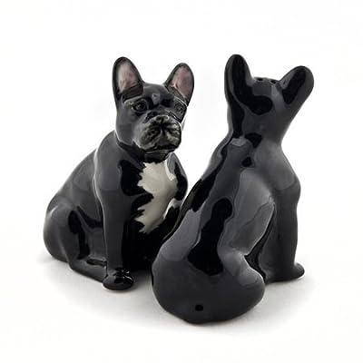 Quail Ceramics - French Bulldog Salt and Pepper - Black and White from Quail Ceramics