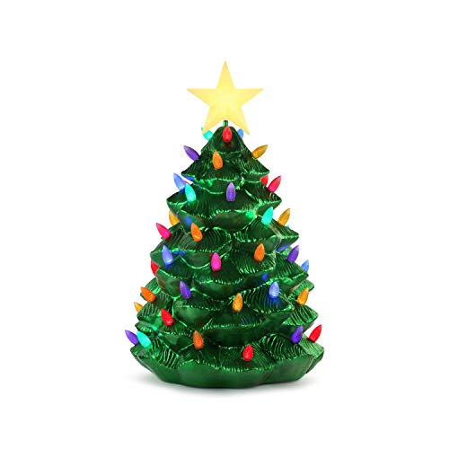 Mr. Christmas 36' Outdoor Blow Mold Nostalgic Tree-Green Metallic Christmas Décor, inch
