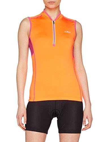 CMP Damen Rad Shirt, orange fluo, 36