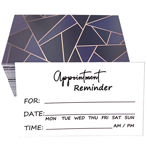RXBC2011 100 Appointment Reminder Cards Marble Blue