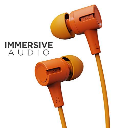 boAt Bassheads 102 in Ear Wired Earphones with Mic(Mint Orange)