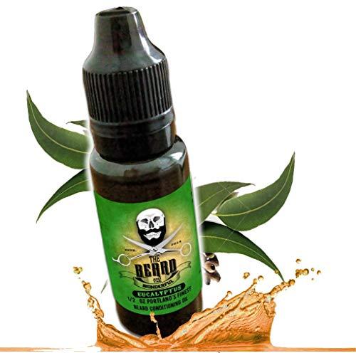Eucalipto olio da barba e balsamo. Miscela di qualità per rendere la barba più spessa e più morbida. Alta qualità. Biologico, 100% naturale, 15 ml, miscela di olio di canapa e jojoba, non unge. …