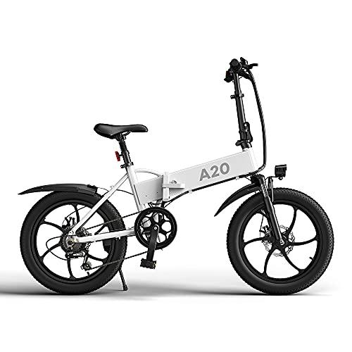 ADO Bicicleta eléctrica A20 para adultos, 20 pulgadas, 7 ve