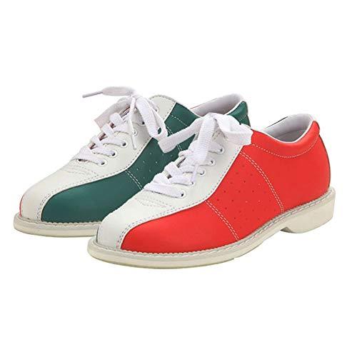 Unisex Bowling-Schuhe, Männer PU-Leder-Lace Up Bowling Trainer Schuhe Für Damen Jugend Kinder Jungen Und Mädchen Frauen,40