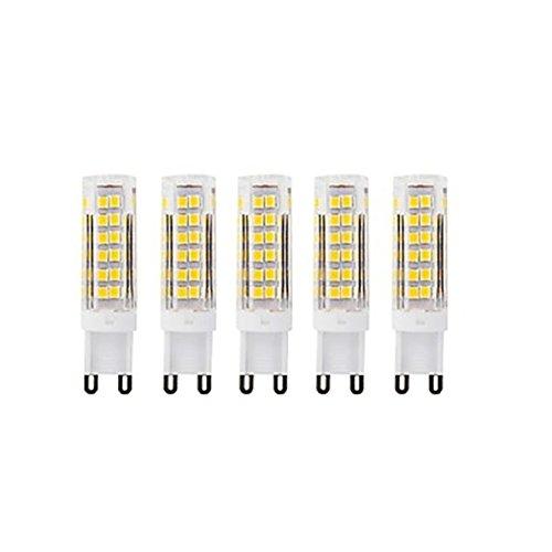 YITEJIA-LIGHTBULBS Hoogwaardig LED-licht AC220 LED-lampen G9 75Led Smd2835 7W 400-450Lm Wit Warm/Cool White Kleine keramische maïs lamp Wit 5 stuks