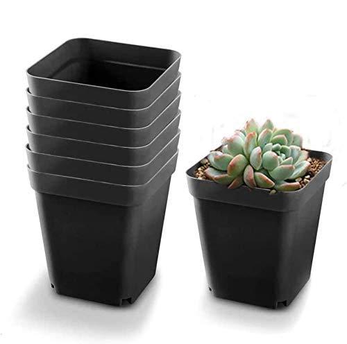 20pc Vivero De Plástico Macetas De Flores Oficina Planta En Maceta Viva Macetas Cuadradas Pequeñas Creativas Perfecto Para Verduras Suculentas