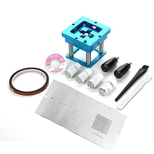 90mm BGA Reballing Solder Rework kit di riparazione per computer videogioco + 0.76mm/0.6mm/0.5mm stencil