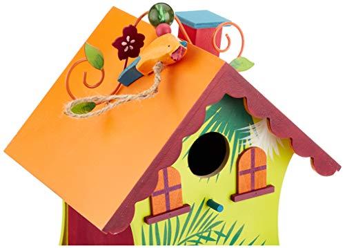 Small Foot by Legler Vogelhaus Hawaii mit süßen Verzierungen im paradiesischen Design, gemütliches Zuhause für alle Singvögel im Winter, mit kleiner Öffnung und schwenkbarem Verschluss, wunderschöne Gartendekoration zum Aufhängen - 3