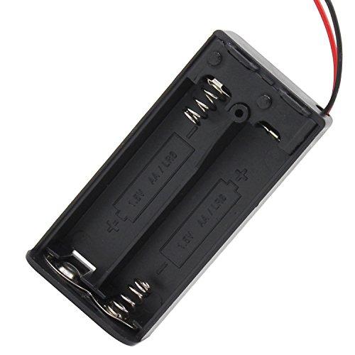 KEESIN AA 3V Batteriehalter Fall Kunststoff Akku Aufbewahrungsbox mit EIN / AUS Schalter und Befestigung Kabelbinder (2 Solts * 8 Stück)
