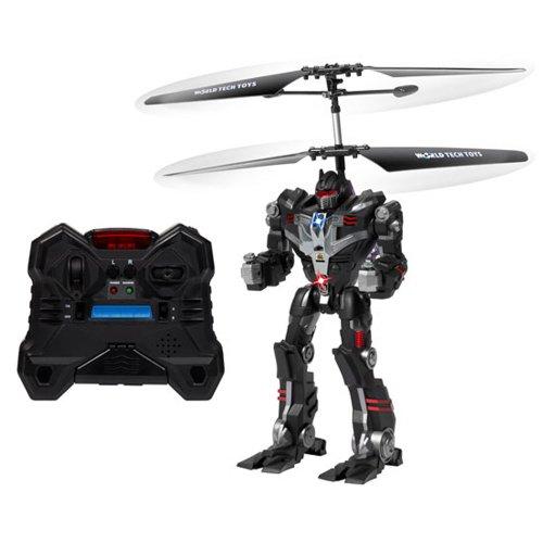 Elicottero telecomandato robot con Battle System, con telecomando a infrarossi integrato e caricatore.