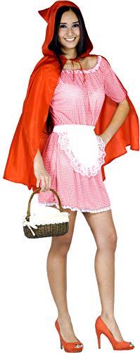 Ciao Cappuccetto Rosso Costume Donna, Taglia Unica