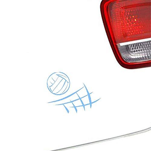 Auto Aufkleber Beach-Volleyball-Dekor-Auto-Aufkleber-Schattenbild-Zusätze 13.5x10.2Cm für Auto-Laptop-Fenster-Aufkleber