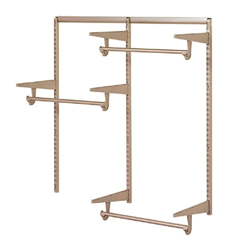 Closet Culture by Knape & Vogt Culture 4 ft. Steel Closet Hardware Kit in Champagne Nickel Shelving