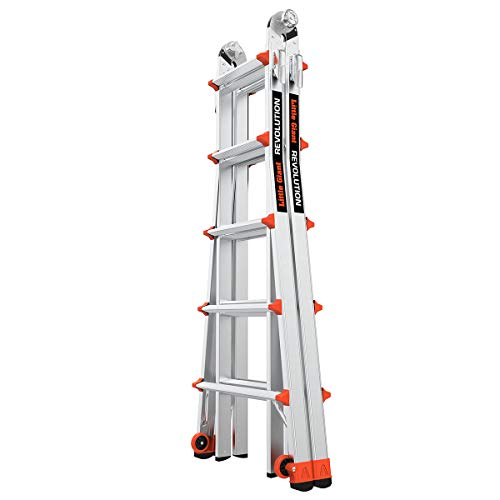 Little Giant Ladders, Revolution, M22, 6-18 Foot, Multi-Position Ladder, Aluminum, Type 1A, 300, 300 lbs Weight Rating, (12022)