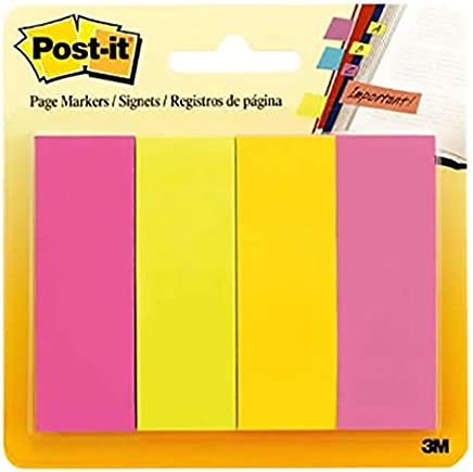 Post-it Page Marker 671-4AU, 7/8 in x 2 7/8 in x (22,2 mm x 73 mm) Assorted Colors