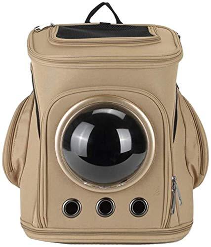 FQCD Haustier-Rucksack Breath Faltbare Kapsel Astronaut Blase Haustier Hund Katze Träger Wasserdicht (Color : Brown)