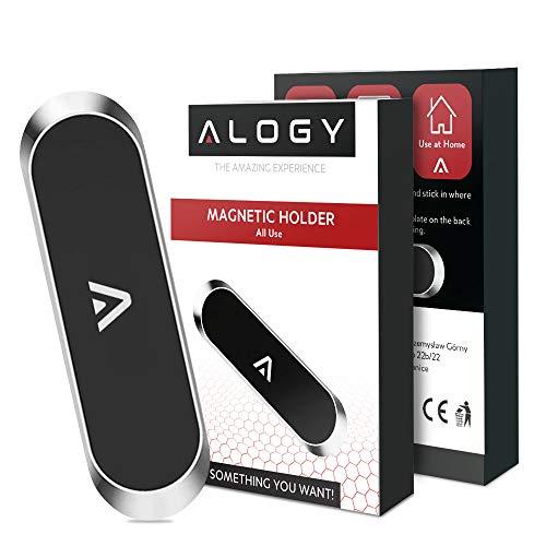 Soporte magnético para teléfono móvil de coche de aluminio, samoprzylepne