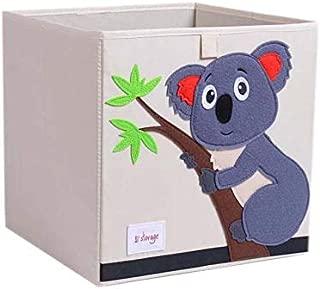 Vmotor Foldable Animal Canvas Storage Toy Box/Bin/Cube/Chest/Basket/Organizer for Kids, 13 inch(Koala)