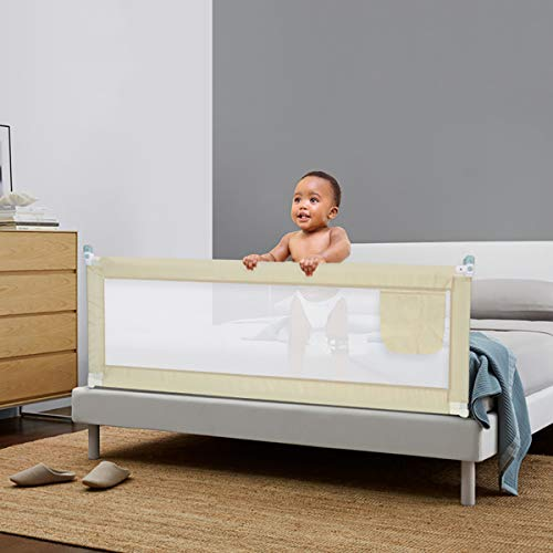 TANGBC - Valla para bebé (1,5/1,8/2 m), color beige