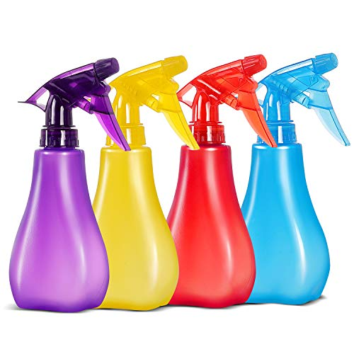8 Oz Empty Plastic Spray Bottles with Adjustable Nozzle - Durable Trigger Sprayer with Mist & Stream Modes - Refillable Sprayer for Taming Hair, Hair styling, Watering Plants, Showering Pets - 4 Pack