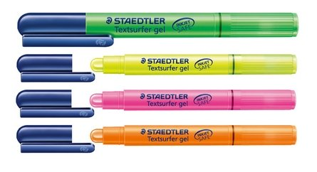 Lot de 4 surligneurs Staedtler « Textsurfer gel »