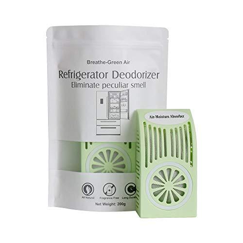 CANAGER Refrigerator Deodorizer, Freezer Odor Eliminator,Better Than Baking Soda-(Green,1 Pack)