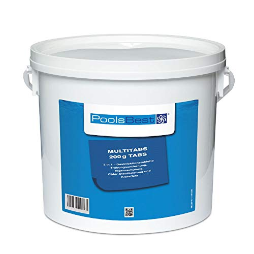 5 Kg - PoolsBest® Chlor Multitabs 5in1, 200g Tabs