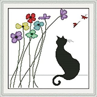 black cat cross stitch kit