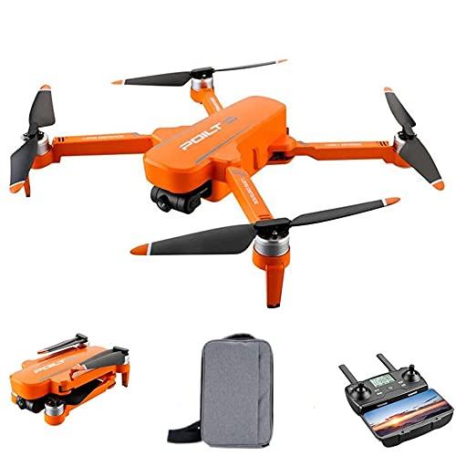 Drone RC X17 con telecamera, Quadricottero RC Gimbal 5G GPS FPV Drone con telecamera anti-shake 6K HD per adulti con motore brushless, follow-me, waypoint e controllo del palmo, 2 batterie (arancia)