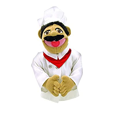 Melissa & Doug Chef Puppet With Detachable Wooden Rod for Animated Gestures from