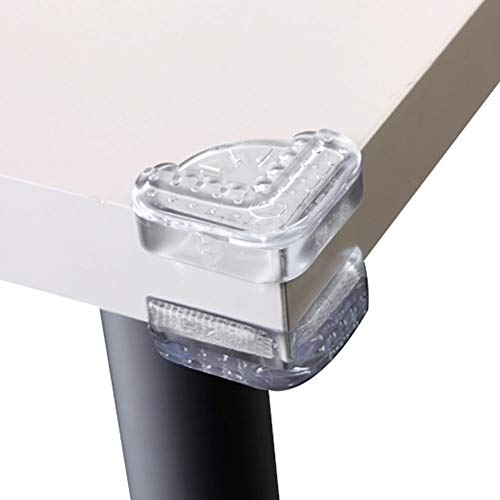 Baby Mate 16 PCS 1.6 Inch Large Table Corner Protectors For Baby Safety - Food Grade Clear Corner Protector Baby Proof Both Sides - Baby Proofing Corner Guards Table Corner Covers Table Corner Bumpers