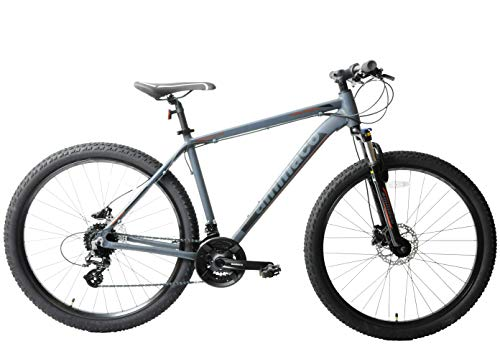 Ammaco. Osprey V3 27.5' 650b Wheel Mountain Bike Front Suspension Lockout Hydraulic Disc Brakes 24 Speed Alloy 21' Frame Black