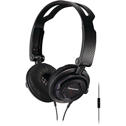 Panasonic FOLDZ On-Ear Stereo Headphones with Mic/Controller RP-DJS150M-K (Black) Integrated