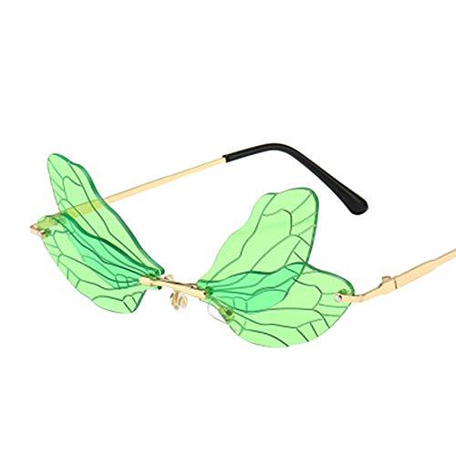 Gafas de Sol de Mariposa para Mujer,Gafas Sin Montura nicas de Moda 2020,Viajes De Vacaciones Llamativos