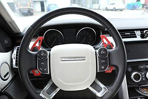 Pedali cambio marce in lega di alluminio Accessori auto per Discovery Sport LR 4 5 Evoque Vogue Velar Red