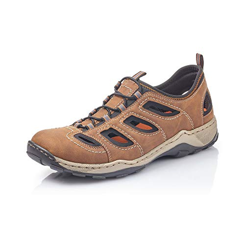 Rieker Hombre Mocasines 08065, de Caballero Zapatilla Deportiva,Calzado de Medio Zapato,Slip-on,Zapato de...