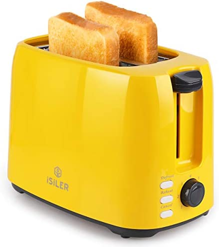 iSiLER 2 Slice Toaster 1 3 Inches Wide Slot Toaster with 7 Shade Settings and Double Side Baking product image