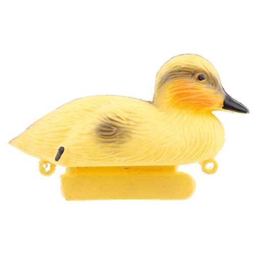 VANKOA Dekoenten für Teich und Garten, Stockente aus Plastik, Teichdeko Schwimmente naturgetreue Nachbildung Lockvogel - Enten, 13x 8X 8cm