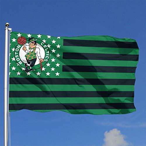 Stockdale Boston Celtics Large Flag Stars and Stripes Banner for Bedroom Wllas