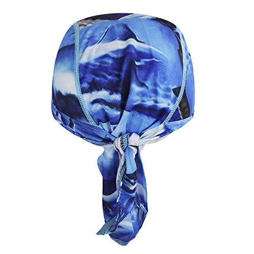 Afinder Unisex Bandana Cap Sport Kopftuch Kopfband Biker Hat Piratentuch UV Schutz Schnelltrocknend Stirnband Sport Fahrrad Radsport Motorrad Mustern Mütze - 3