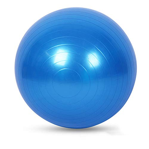 GG-home Gymnastikball, Blau 55Cm / 65cm / 75cm Anti-Burst-Yoga-Kugel mit Handpumpe extra dick Swiss Ball für Fitness Pilates,75cm