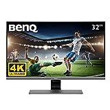 BenQ EW3270U écran 4K HDR 31,5 pouces pour le plaisir visuel, UHD, VA,FreeSync, EyeCare, antiéblouissements, Brightness Intelligence Plus, USBC, HDMI x2, DP1.2, hautparleurs intégrés