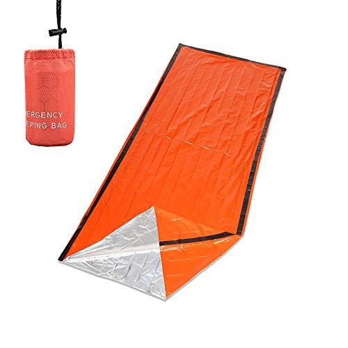 Lixada Saco de Dormir de Emergencia Térmico Portátil con Saco de Almacenamiento Comprimido para Acamparorar