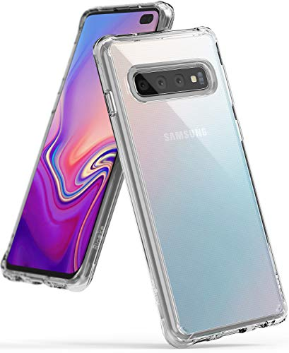 Ringke Fusion Designed for Galaxy S10 Plus Case Crystal PC Back Drop Protective Cover for Galaxy S10 Plus (6.4') - Clear