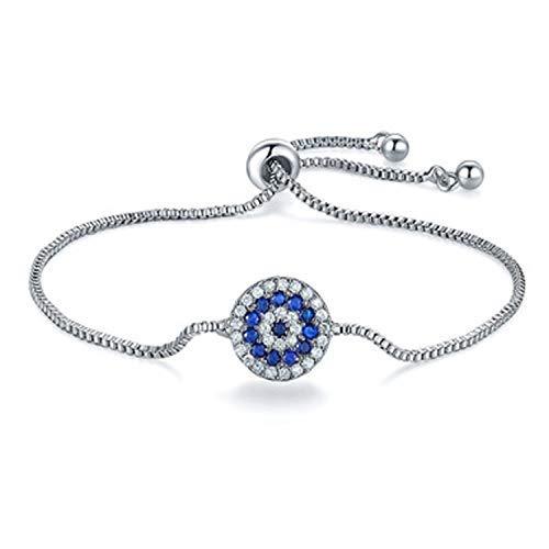 SataanReaper presenta cristales de Swarovski chapado en platino pulsera redonda para mujeres y niñas #SR-1104