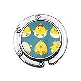 Pájaro Amarillo Pascua Pollo Huevo Pollito Cinta Animal Bebé Canasta Pico Dibujos Animados Bolso Plegable Gancho Monedero Gancho