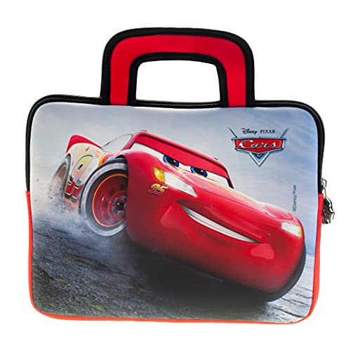 Disney Pixar Cars - Funda de Neopreno Universal para Tablet de 8 a 10 Pulgadas (Fire 7 Kids Edition, Fire HD 8), diseño de Cars de Pebble Gear
