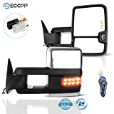 ECCPP Towing Mirrors Fit for 1988-2000 for Chevy C2500/K2500/ K3500 GMC C2500/K2500/K3500 1988-1998 for Chevy C1500/K1500 GMC C1500/K1500 Tow Mirrors with Left Right Side Power Heated