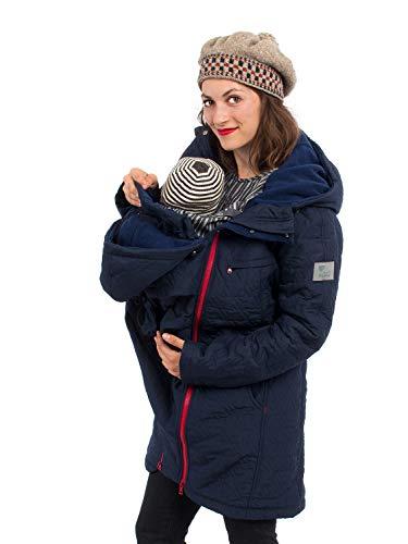 Viva la Mama Winterjacke für Babytragen Wintermantel für Schwangerschaft Umstandsjacke warm Polaris Marine blau - S